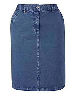 PETITE Stretch Chino Skirt