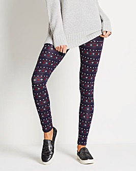 Christmas Heart Print Jersey Leggings