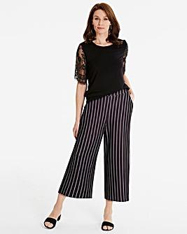 Stripe Slim Leg Culotte