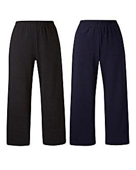 Pack 2 Jersey Crop Trousers Regular