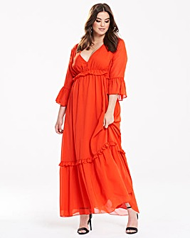 Truly You Ruffle Maxi Dress