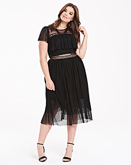 Truly You Sheer Detail Dress