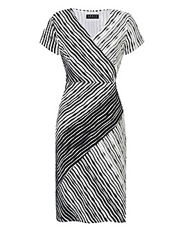 Grace Mono Stripe Midi Dress