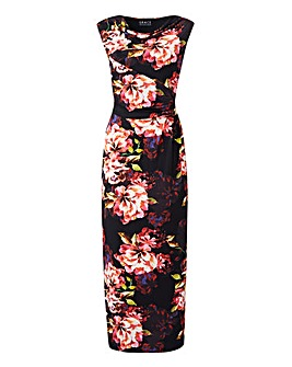 Grace Cowl Neck Floral Maxi Dress