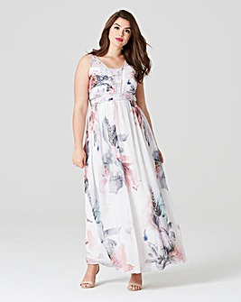 Little Mistress Print Embellished Maxi