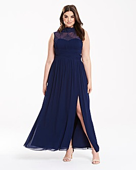 Little Mistress High Neck Lace Maxi