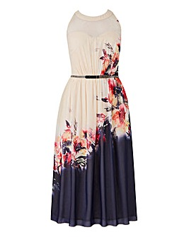 Little Mistress Floral Midi Skater Dress