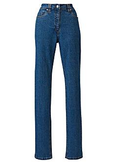 Elle Petite Straight Leg Jeans L 25in