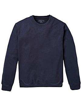 Capsule Navy Crew Neck Sweatshirt Long