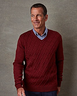 Premier Man V Neck Detail Jumper