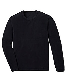 Capsule Black Crew Neck Polar Fleece