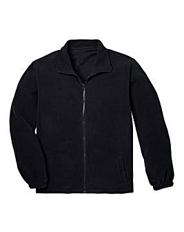 Capsule Black Full Zip Polar Fleece