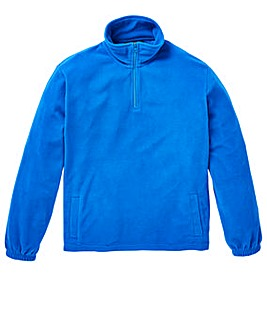 Capsule Blue Basic Zip Neck Fleece