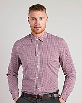 Flintoff by Jacamo L/S Check Shirt Long