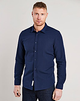 Flintoff by Jacamo Seersucker Shirt Long