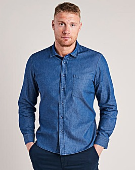 Flintoff by Jacamo Chambray Shirt Long