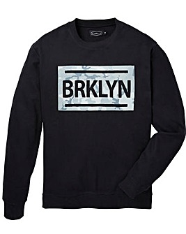 Label J Brooklyn Print Crew Sweat