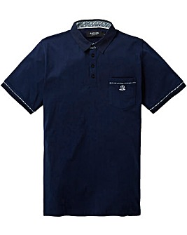 Black Label Trim Plain Polo Regular