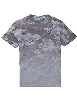 Label J Camo Fade Tee Long