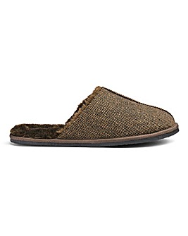 Herringbone Mule Slippers