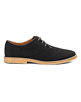 Lace Up Casual Derby Shoe Extra Wide