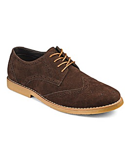 Lace Up Casual Brogue Extra Wide Fit