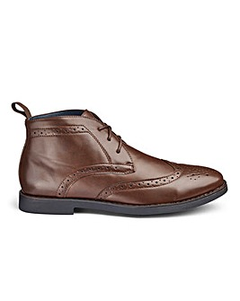 Brogue Lace Up Boots Wide Fit