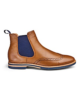 Brogue Chelsea Boot Wide Fit