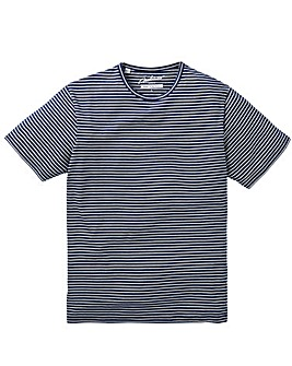 Jacamo Douglas Stripe T-Shirt Regular
