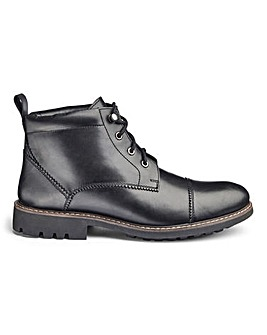Cleated Leather Lace Up Boot