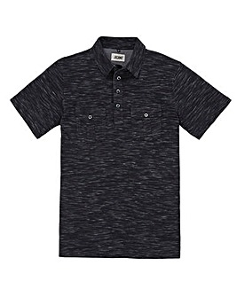Jacamo Baretta Space dye Polo Black Reg
