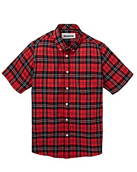 Jacamo S/S Colter Check Shirt Regular
