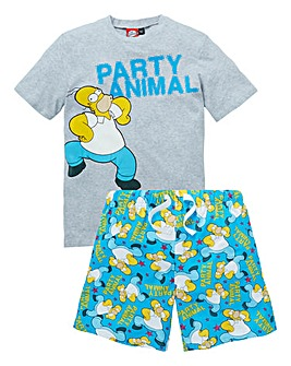 Simpsons Pyjama Short Set