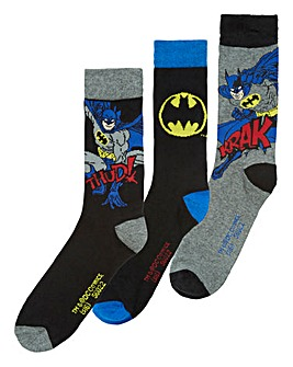 Pack of Three Boxed Batman Socks