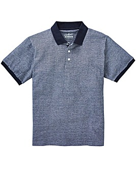 Jacamo Shango Oxford Pique Polo Long