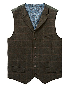Black Label Checked Tweed Waistcoat