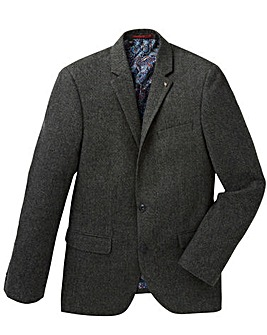 Black Label Pattern Tweed Blazer Regular