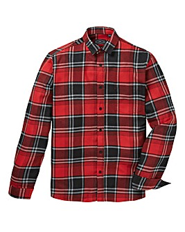 Label J Checked Flannel Shirt Long