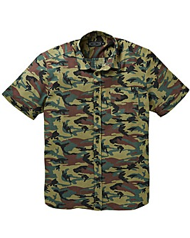 Label J Camo Print Short Sleeve Shirt