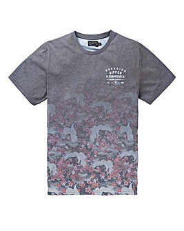 Label J Japanese Floral Print Tee