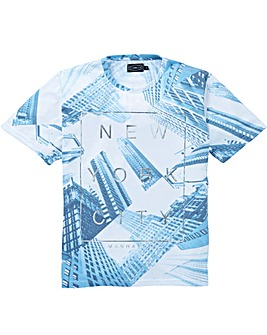 Label J Foil City Print Tee