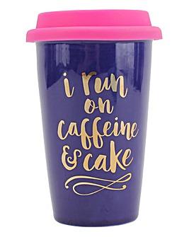 Caffeine and Cake Travel Mug