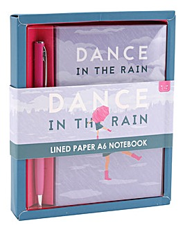 Dance in the Rain Notebook and Pen