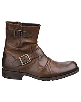 Base London Metal Waxy Leather Mens Boot