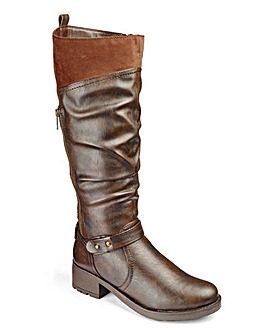 Heavenly Soles Boots E Fit Ex Curvy Plus