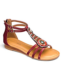 Heavenly Soles Beaded Sandals E Fit