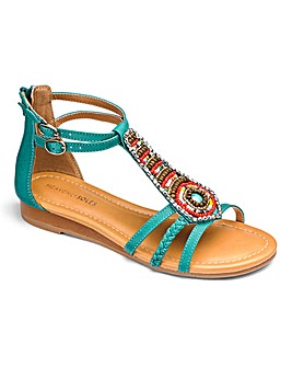 Heavenly Soles Beaded Sandal EEE Fit