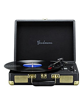 Goodmans Portable Turntable - Black