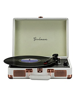 Goodmans Portable Turntable - White