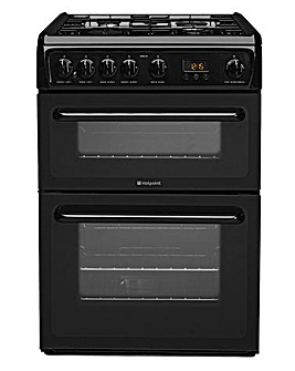 Hotpoint 60cm Gas Cooker Black